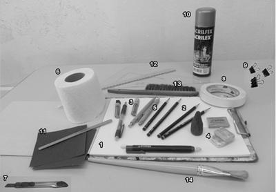 materiais para desenho realista