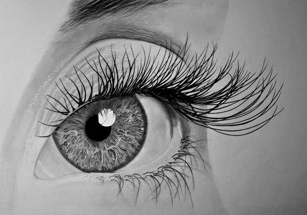 desenho realista olho