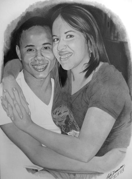 Isaac e Esposa (Desenho de Carlos Damasceno)