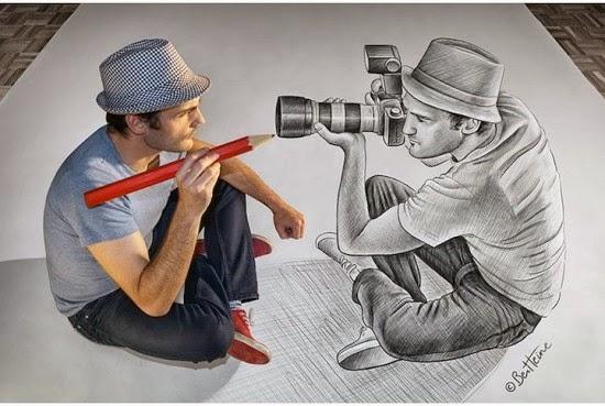 Desenhos Realista Em 3d Do Belga Ben Heine Aulas De Desenho Para