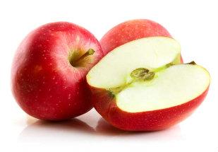 fruta cortada ao meio