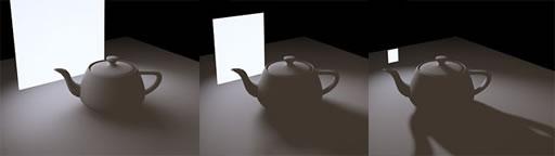 objeto luz e sombra