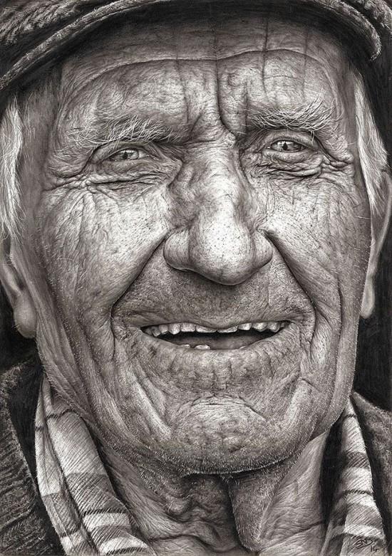Este Chocante Desenho Realista De Retrato Foi Feito Por Uma Menina