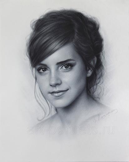 Emma-Watson-desenho realista
