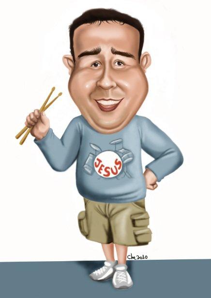 Caricatura de Cheversson Chagas 8