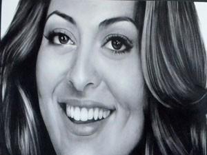 Atriz Juliana Paes em desenho de Alison Pereira (Foto: Samantha Silva / G1)