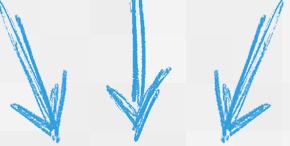 setas azuis triplas