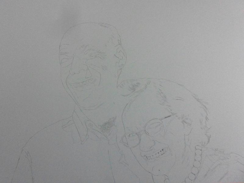 Desenho Realista - Casal Ahilton e Magdalena 1