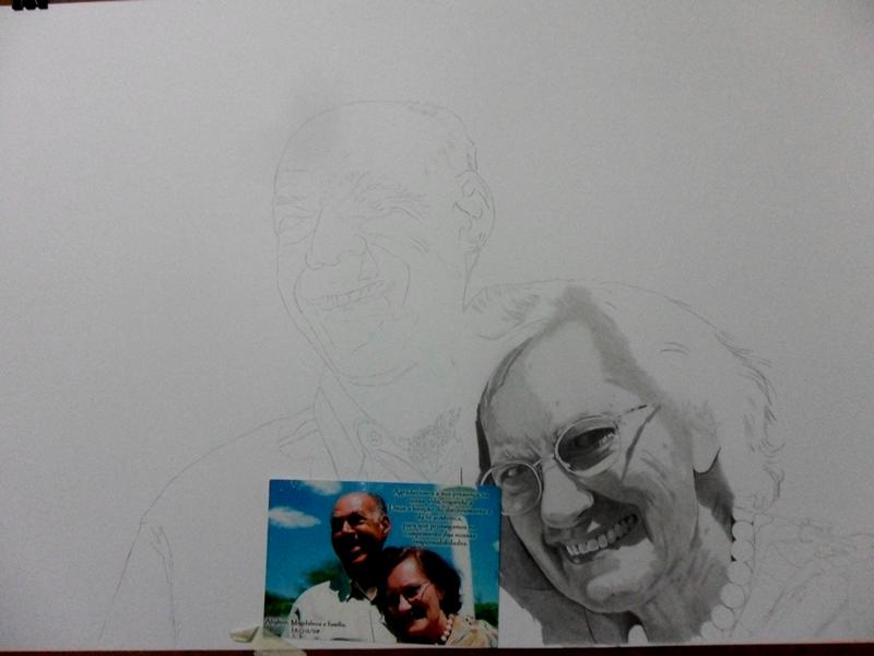 Desenho Realista - Casal Ahilton e Magdalena 2