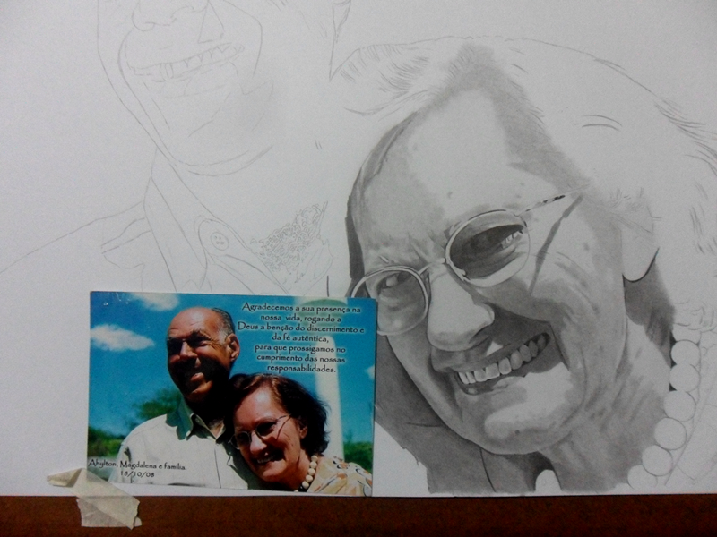 Desenho Realista - Casal Ahilton e Magdalena 3