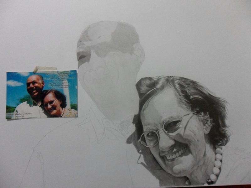 Desenho Realista - Casal Ahilton e Magdalena 4