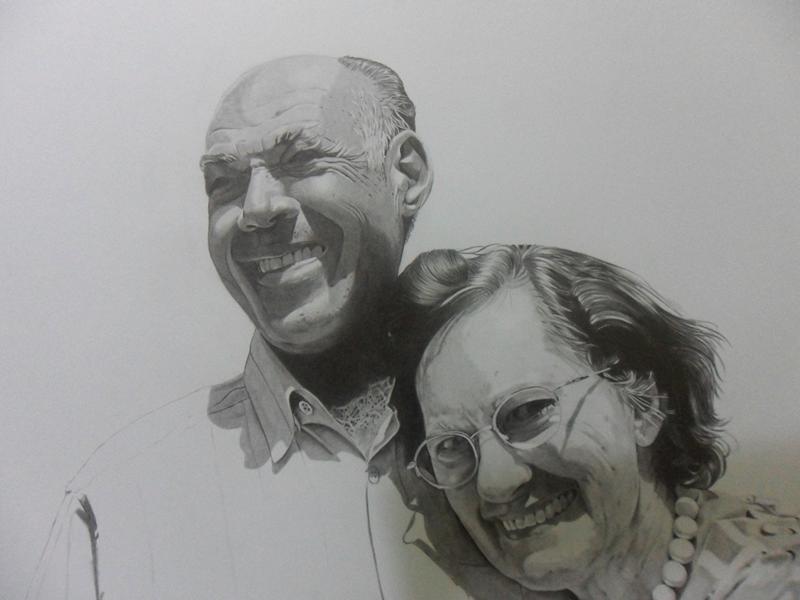 Desenho Realista - Casal Ahilton e Magdalena 7