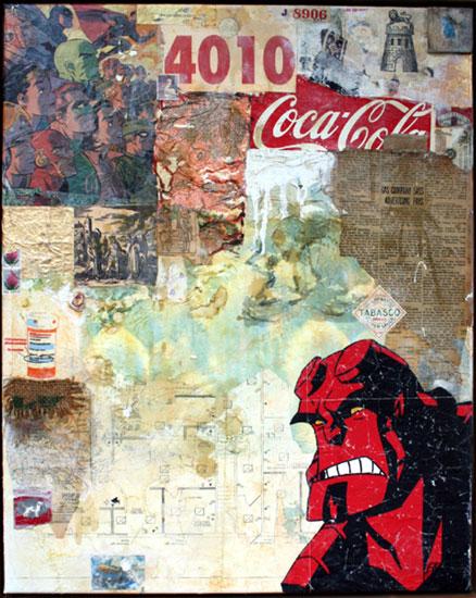 Oliver Peterson  Mídia mista e acrílico em canvas