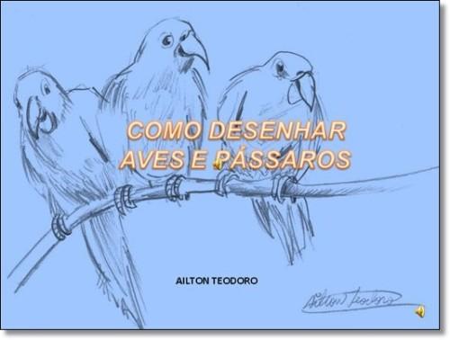 Curso Online de COMO DESENHAR AVES E PÁSSAROS