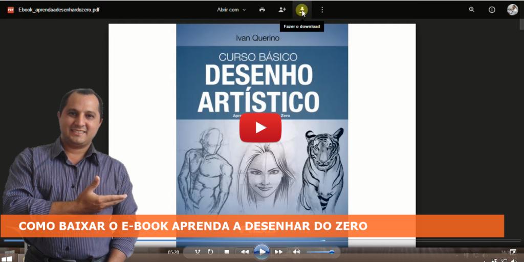 COMO BAIXAR O E-BOOK APRENDA A DESENHAR DO ZERO you tube