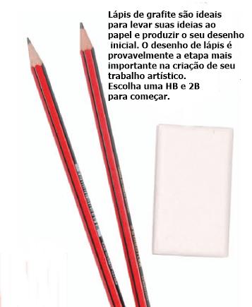 lápis para iniciar