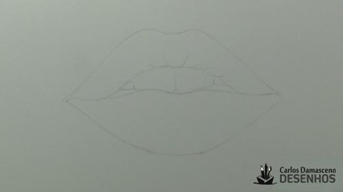 como desenhar boca 3