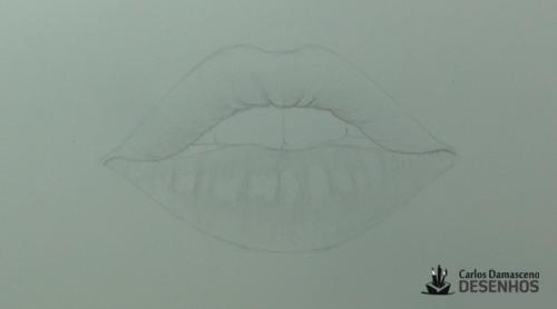 como desenhar boca 7