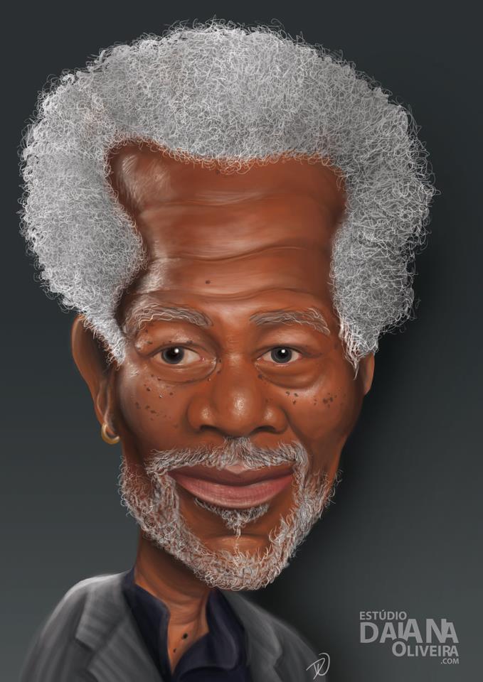 Caricatura Digital Realista – Morgan Freeman - Daiane Oliveira