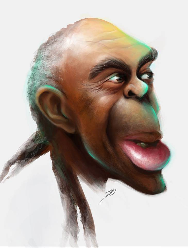 Caricatura do Gilberto Gil por Daiane Oliveira