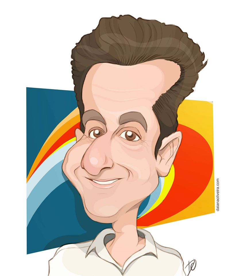 Caricatura do Luciano Huck por Daiane Oliveira