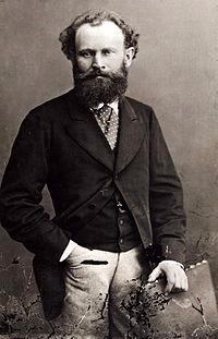 Édouard Manet fotografia por Nadar de 1874.