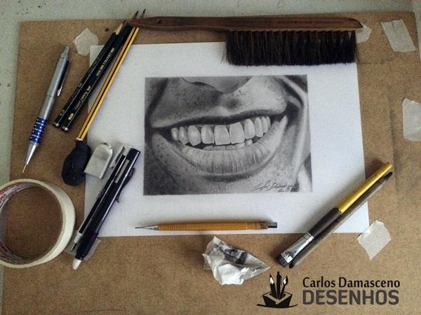 Desenho Realista de Carlos Damasceno Boca Masculina 4
