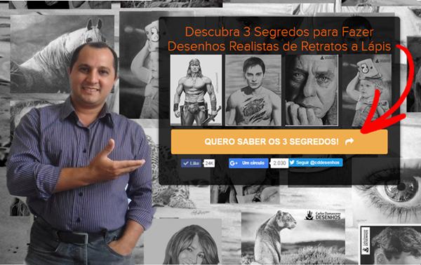Desenhos Realista - Carlos Damasceno - O Segredo do Desenho Realusta de Retratos