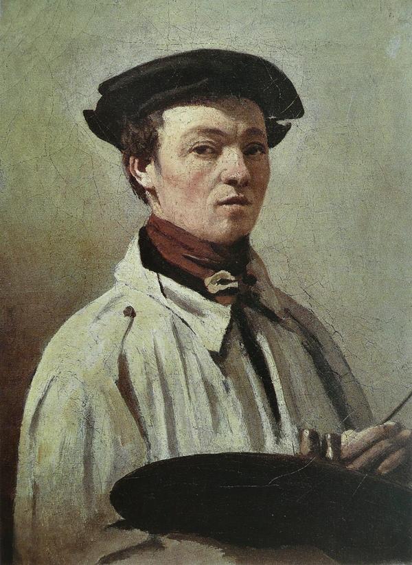 Auto-retrato com paleta.