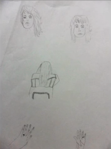 Angela Antes do Curso - Carlos Damasceno Desenhos Realista