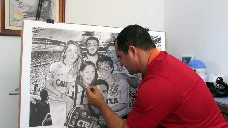 Desenho Realista de Carlos Damasceno