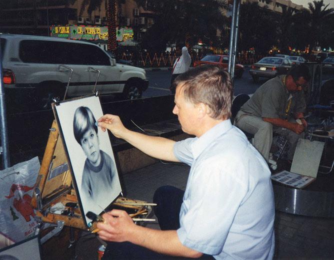 Desenho Realista - desenho de retratos na rua