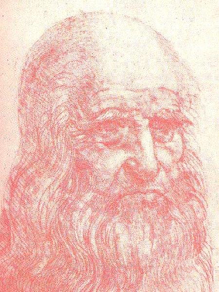 Auto-retrato de Leonardo em Giz vermelho