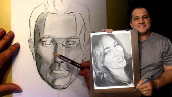 Como desenhar um retrato