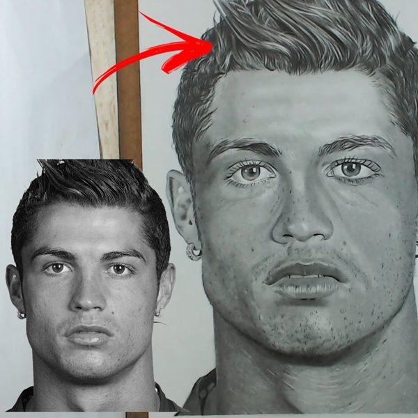 Como desenhar Cristiano Ronaldo