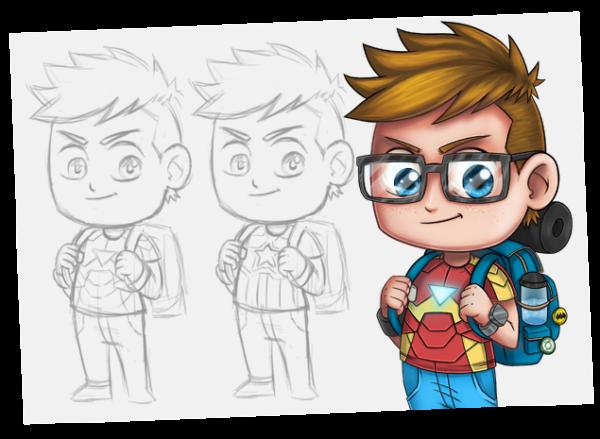 como desenhar qualquer coisa - personagens