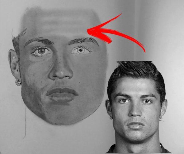 Desenhando Cristiano Ronaldo