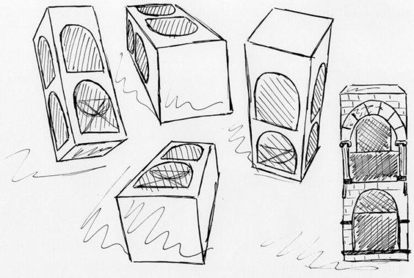 Desenhar a caixa de diferentes ângulos vai lhe ensinar muito sobre os diferentes tipos de perspectiva.