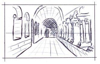 Desenho em perspectiva de um ponto: adicionando detalhes