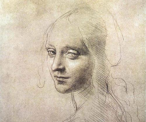 Leonardo da Vinci, Cabeça de uma Garota, c.1483