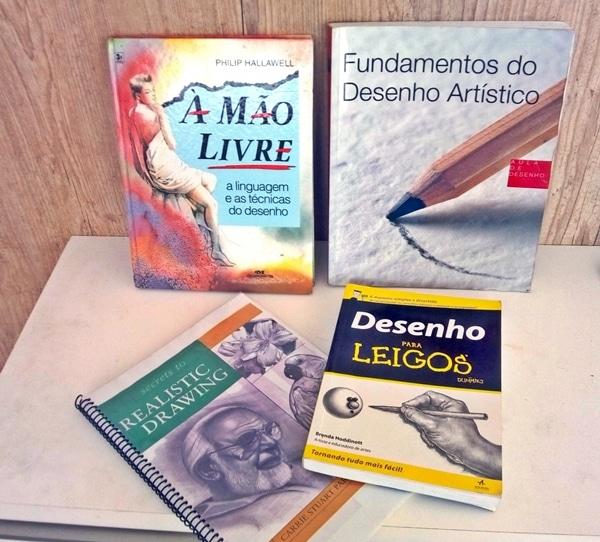 Muitos hobbys podem ser ao menos iniciados com a ajuda de livros tutoriais. Desenhar é um deles.