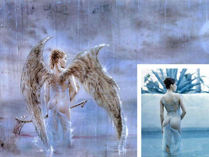 """Luis Royo, """"Fallen Angel IV"""" com inspiração de Laetitia Casta"""