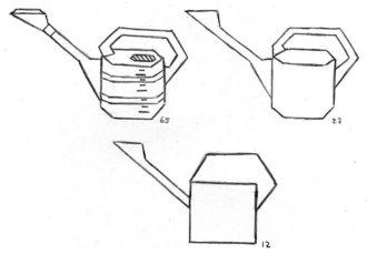 O número de linhas retas usadas para cada um dos esboços simplificados é indicado na lateral