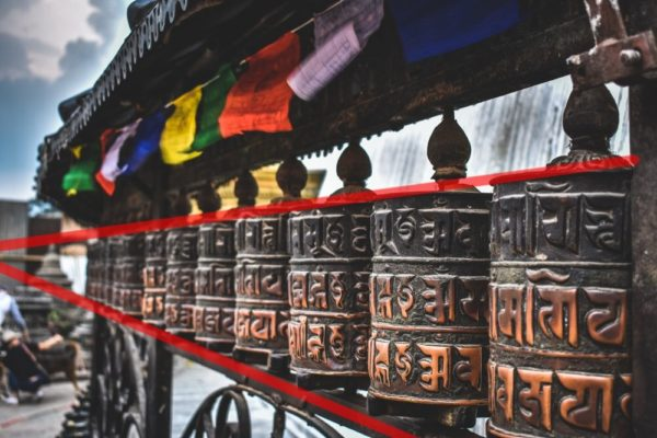 Rodas de oração em sequência mostrando uma adorável perspectiva de um ponto com o PF ligeiramente fora da imagem.