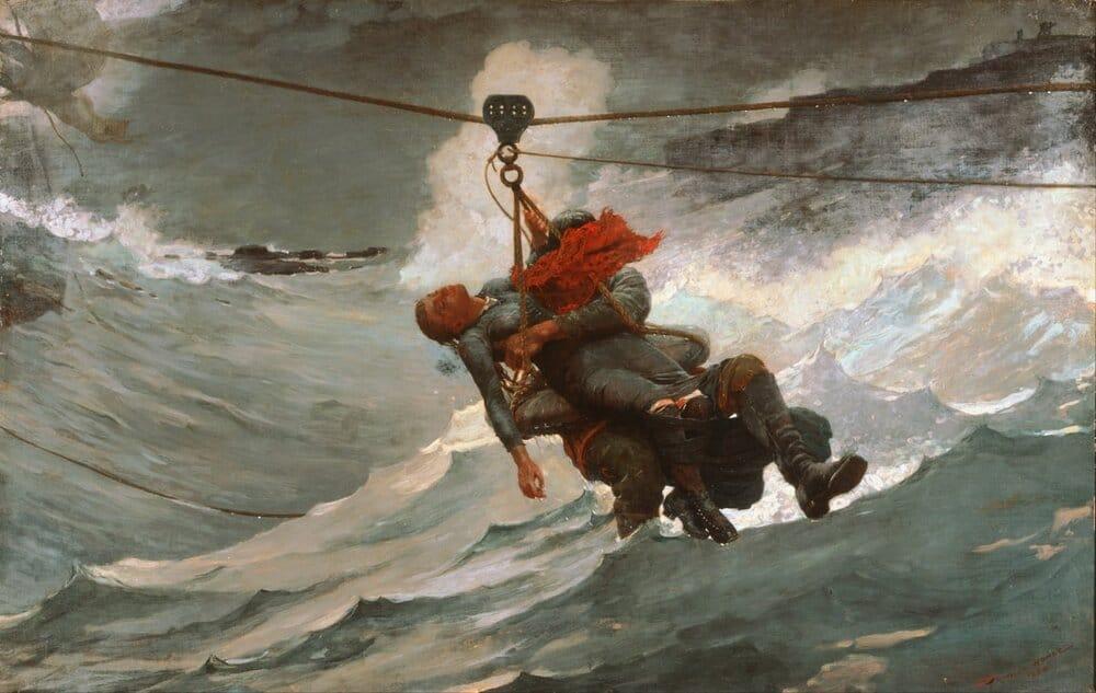Winslow Homer, 'A Linha da Vida' (1884), Óleo sobre Tela