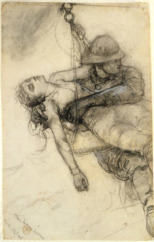 Winslow Homer, Esboço para pintar 'A Linha da Vida'