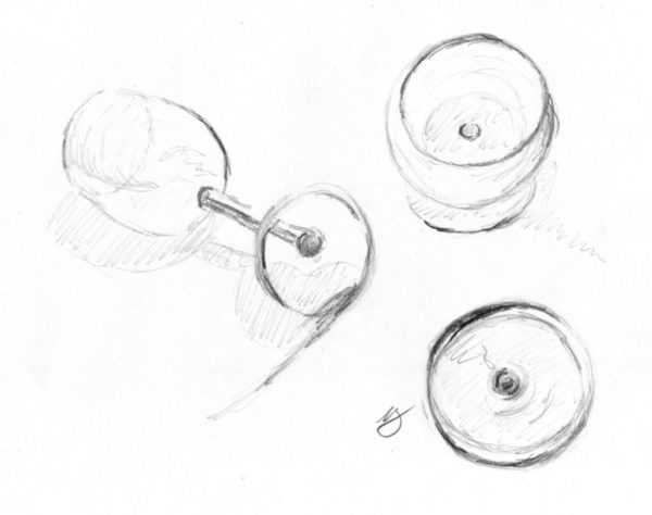 exercício de desenho onde você desenha uma imagem em um ângulo diferente