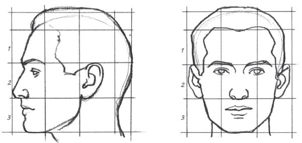 Como fazer um Desenho Realista de retratos: esquema da cabeça