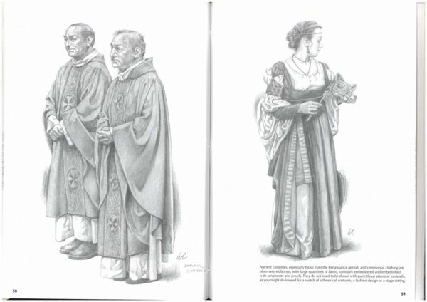 Como fazer um Desenho Realista de retratos:  The art of drawing clothing on figures Giovanni Civardi