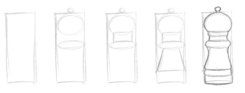 Lição 2 - Aprenda a ver de forma diferente - formas simples  ao esboço